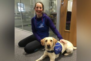 Liz Henwood With Support Dog